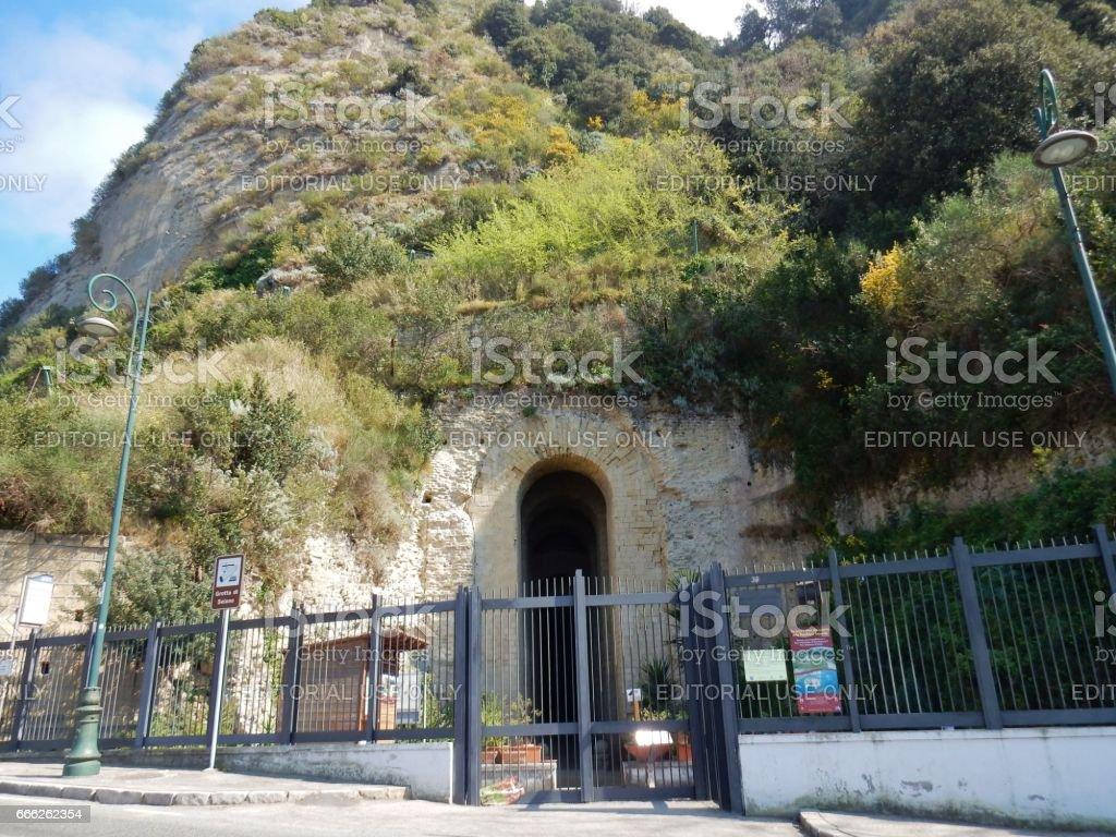 Napoli - Grotta di Seiano stock photo