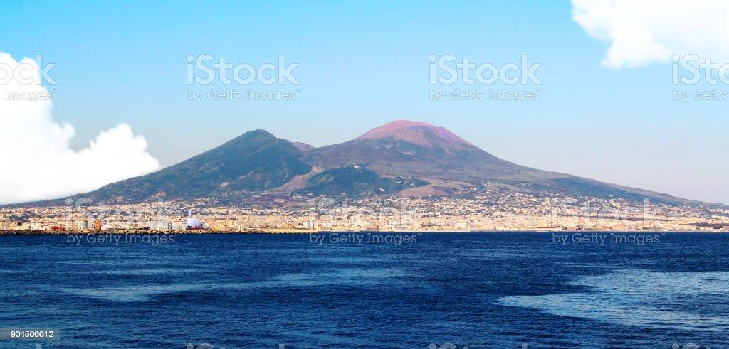 Napoli il golfo ed il vesuvio stock photo