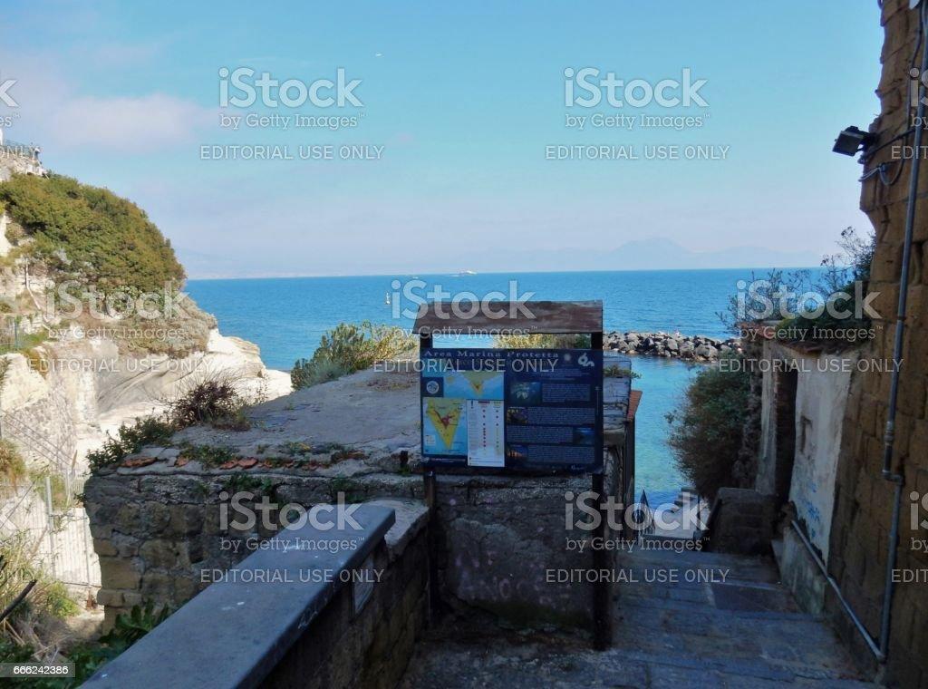 Napoli - Ingresso al Parco Sommerso di Gaiola stock photo