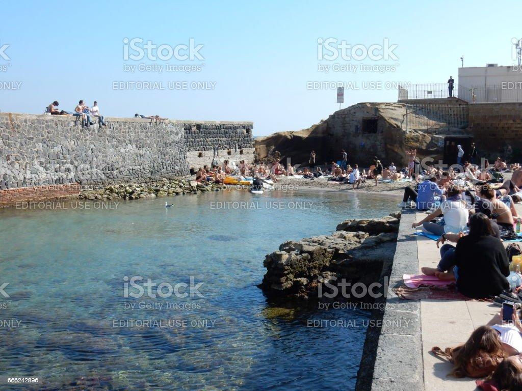 Napoli - Molo di Gaiola stock photo