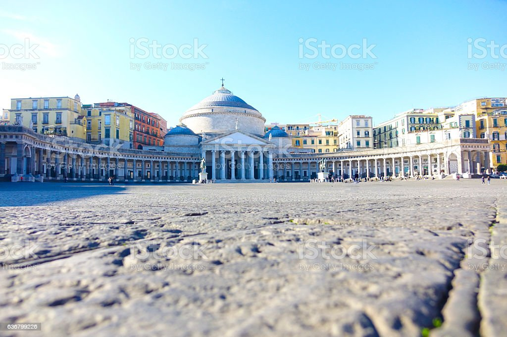 Napoli Piazza del Plebiscito - foto stock