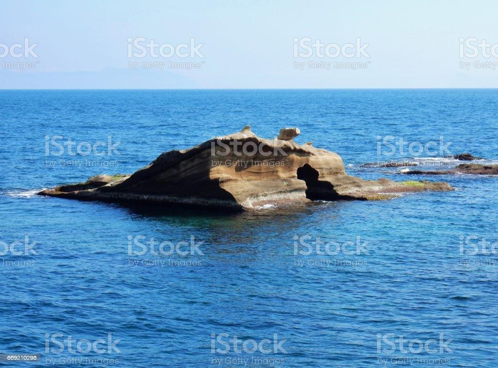 Napoli - Scoglio di Gaiola stock photo