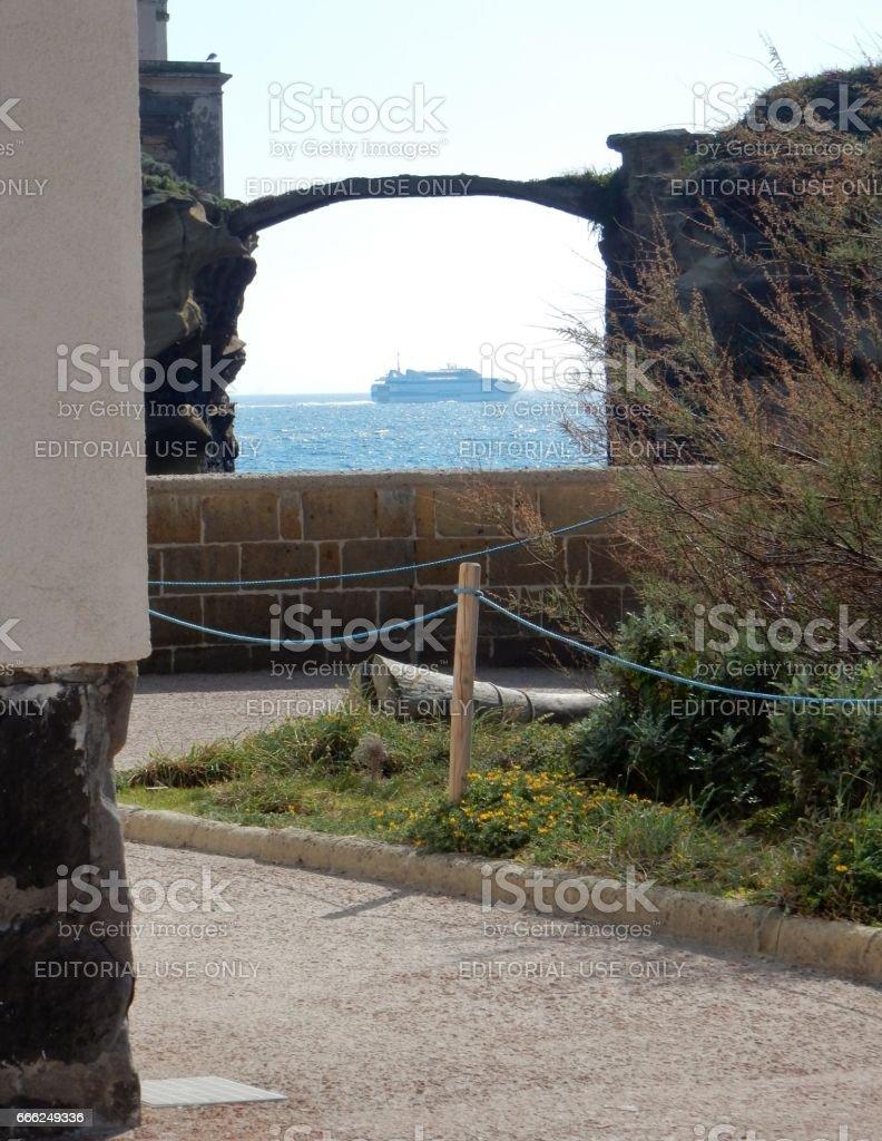 Napoli - Scorcio di Gaiola stock photo