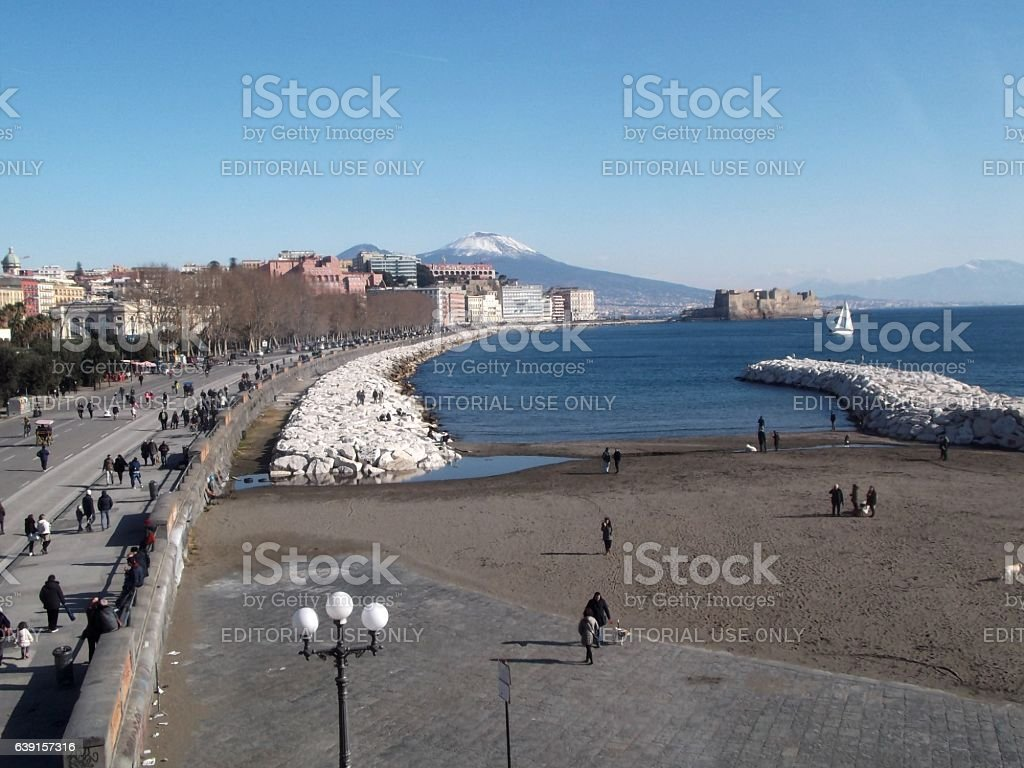 Napoli - Scorcio partenopeo da Nalbero stock photo