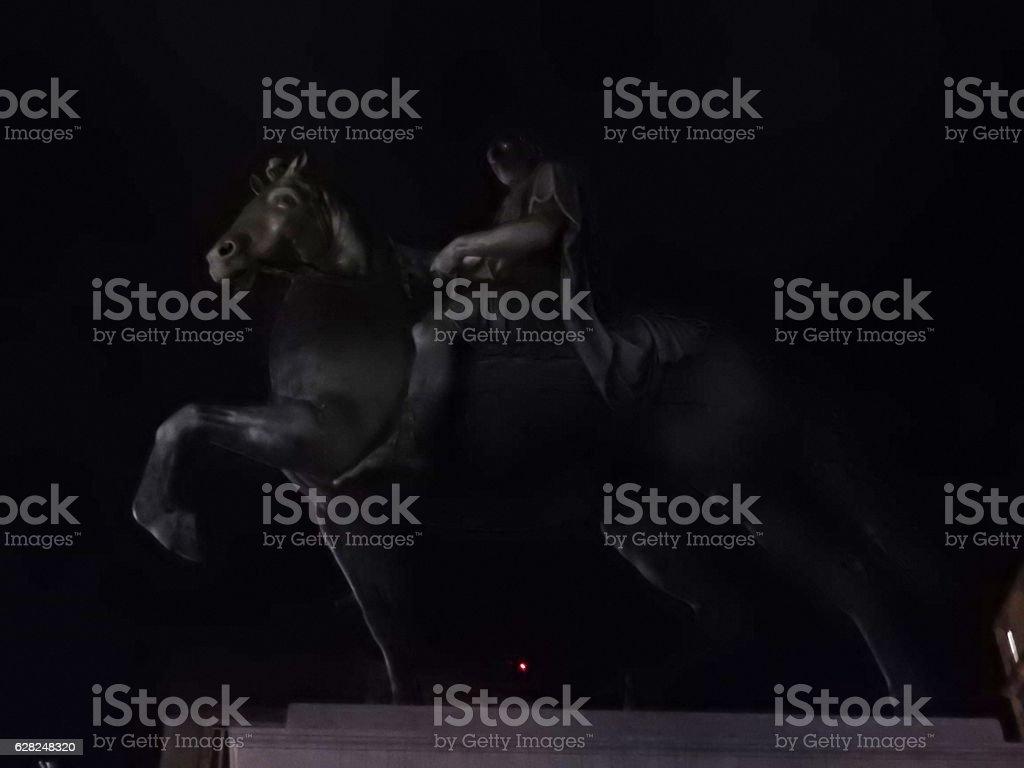 Napoli - Statua  equestre di Ferdinando I stock photo