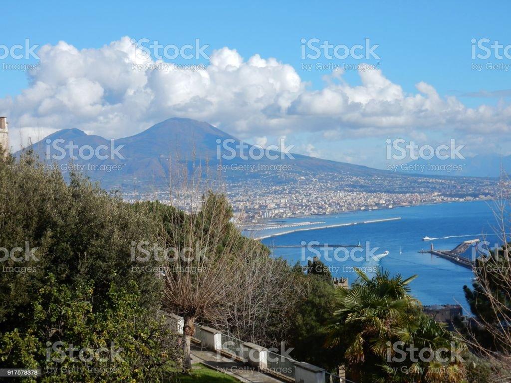Napoli - Veduta dai Giardini di San Martino stock photo