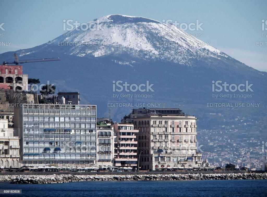 Napoli - Vesuvio d'inverno stock photo