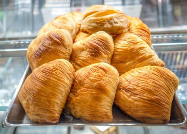 Napolitan Sfogliatelle italian pastry stock photo