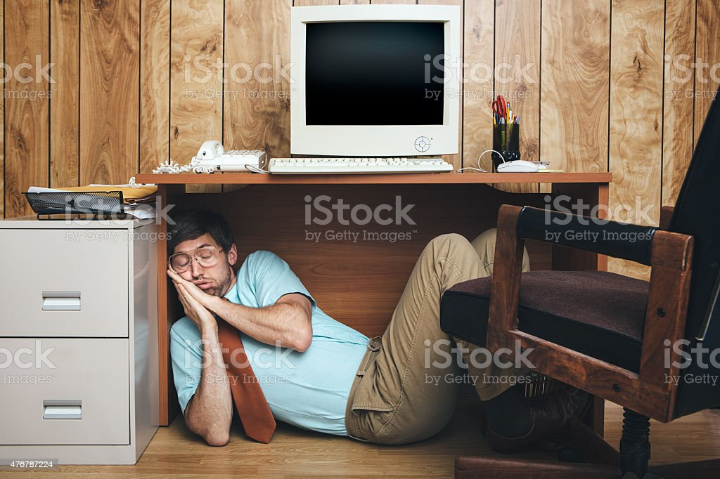 Naptime Office Worker stock photo