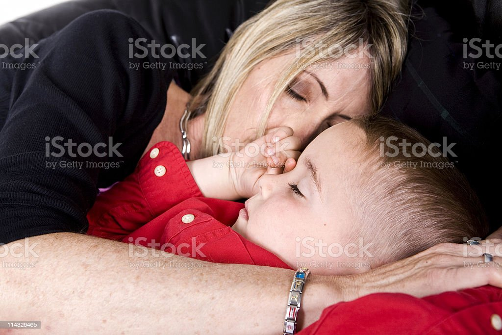 Naptime With Mommy royalty-free stock photo