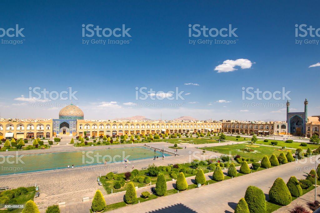Naqsh-e Jahan or Imam Square, Isfahan, Iran stock photo