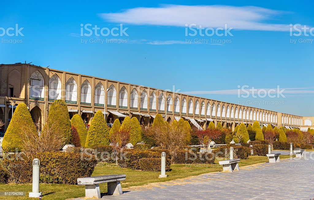 Naqsh-e Jahan Square in Isfahan - Iran stock photo