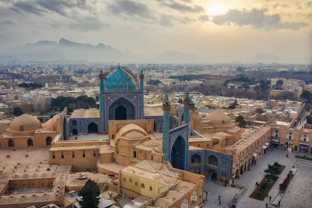 Naqsh-e Jahan Square in Isfahan, Iran, taken in Januray 2019 taken in hdr stock photo