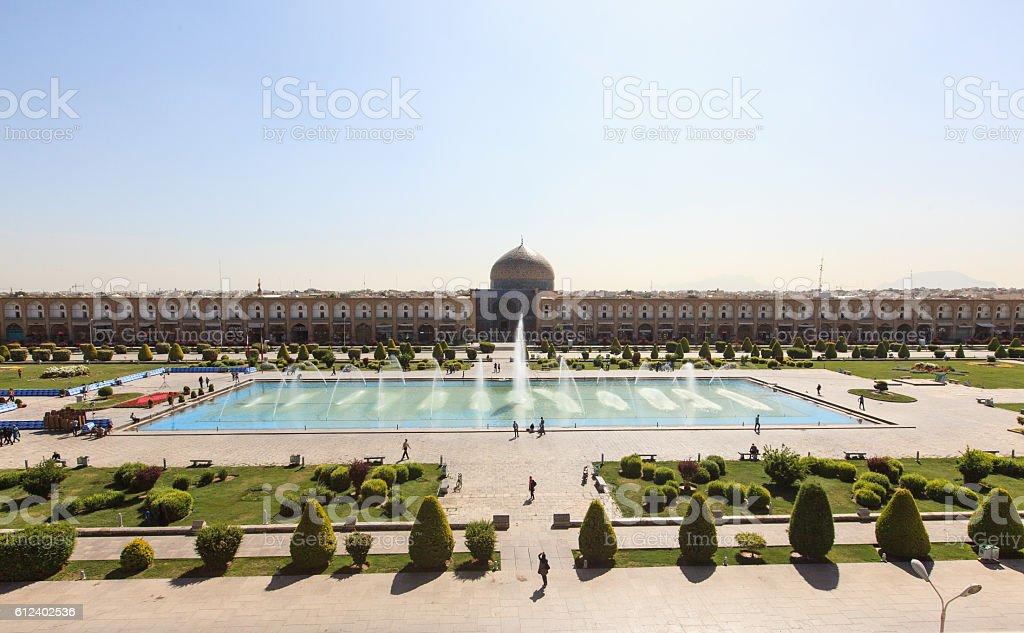 Naqsh-e Jahan Square (Imam square), Isfahan, Iran stock photo