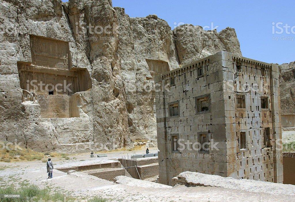 Naqsh-e Rostam, Tombs of Persian Kings, Iran royalty-free stock photo