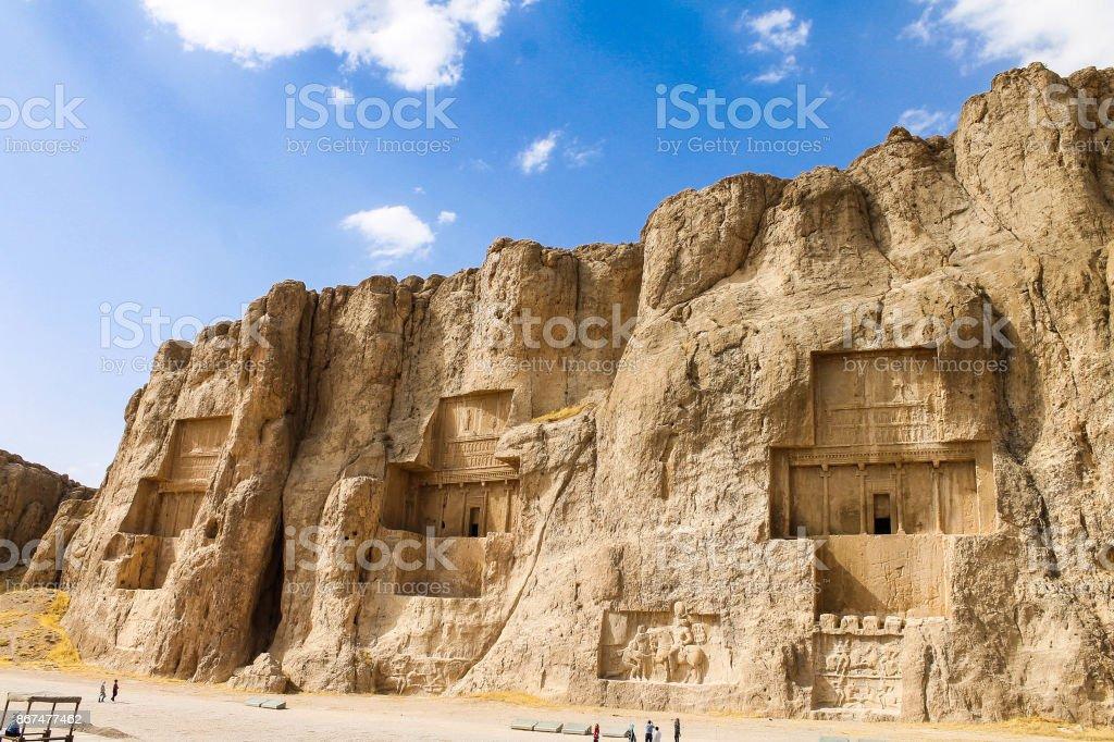 Naqsh-i Rustam, Persepolis, Shiraz, Iran stock photo