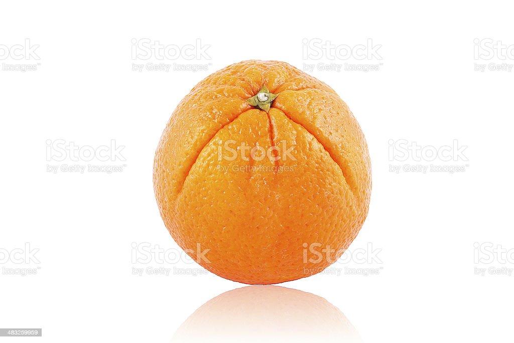 Naranja cítrico aislado sobre fondo blanco stock photo