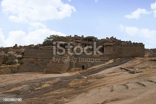 istock Narasimha Temple. Hampi, Karnataka, India. Also sometimes referred as the Jain Temple. 1002880190