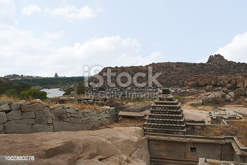 istock Narasimha Temple. Hampi, Karnataka, India. Also sometimes referred as the Jain Temple. 1002880278