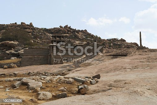 istock Narasimha Temple. Hampi, Karnataka, India. Also sometimes referred as the Jain Temple. 1002880304