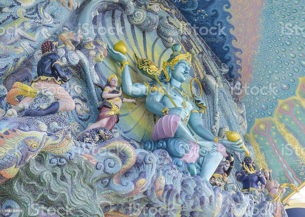 narayana mosaic wall art stock photo