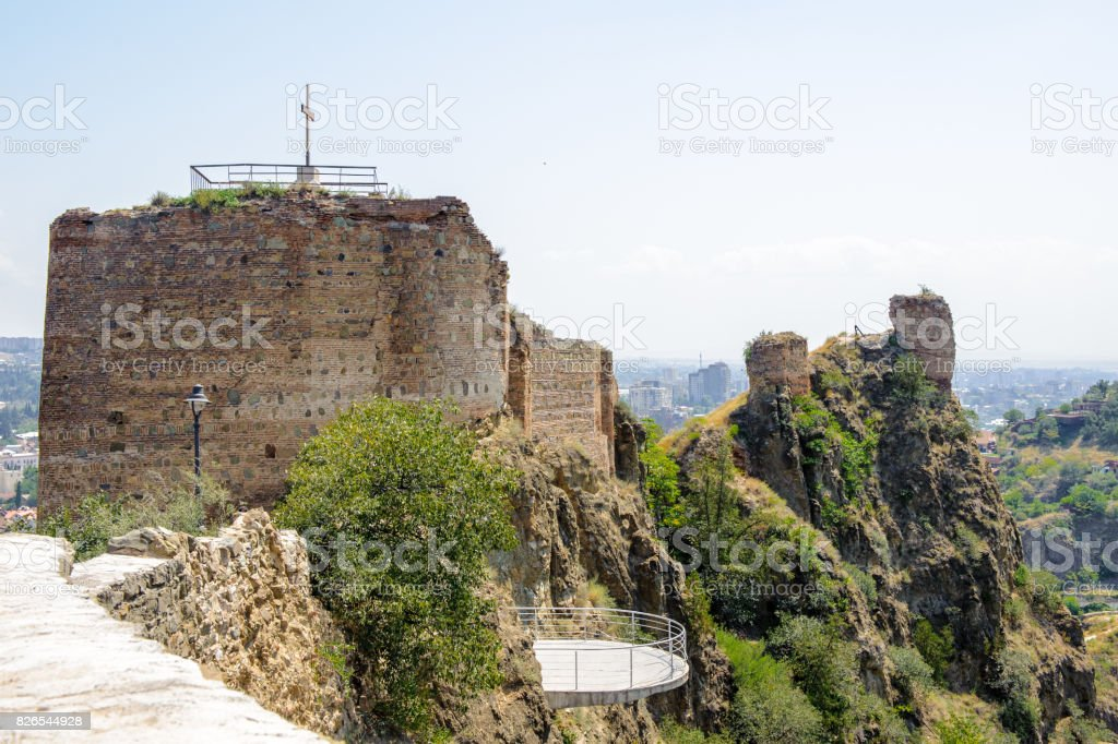 Narikala Fortress, an ancient fortress overlooking Tbilisi, the...