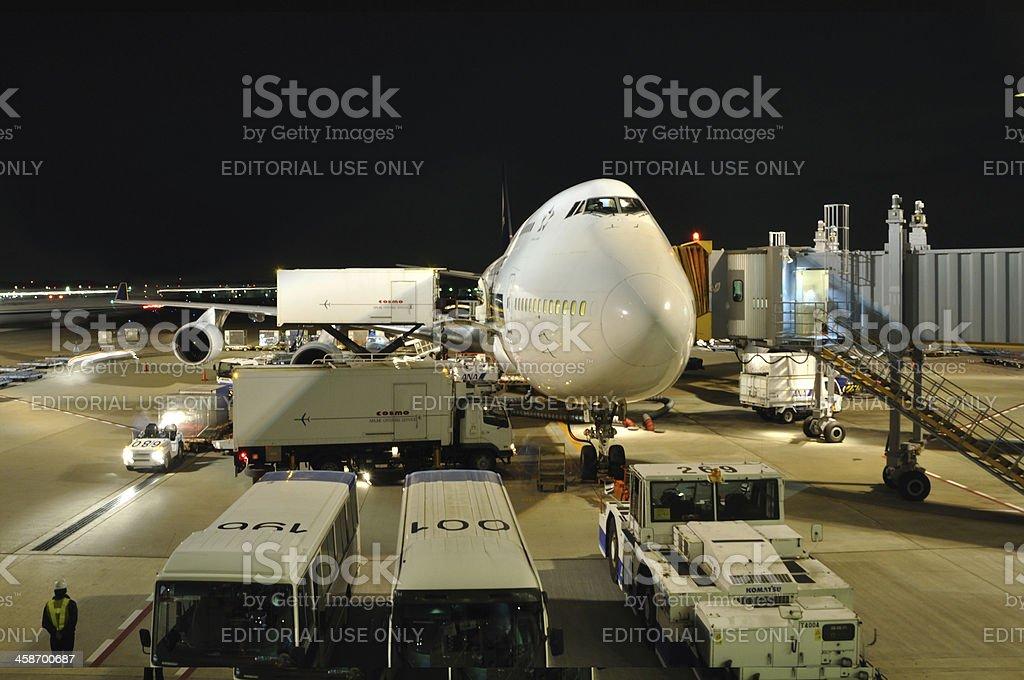 Narita Airport Jumbo stock photo