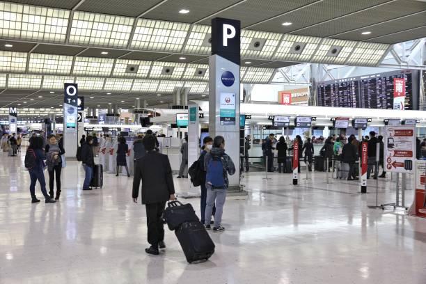 Narita Airport, Tokyo stock photo