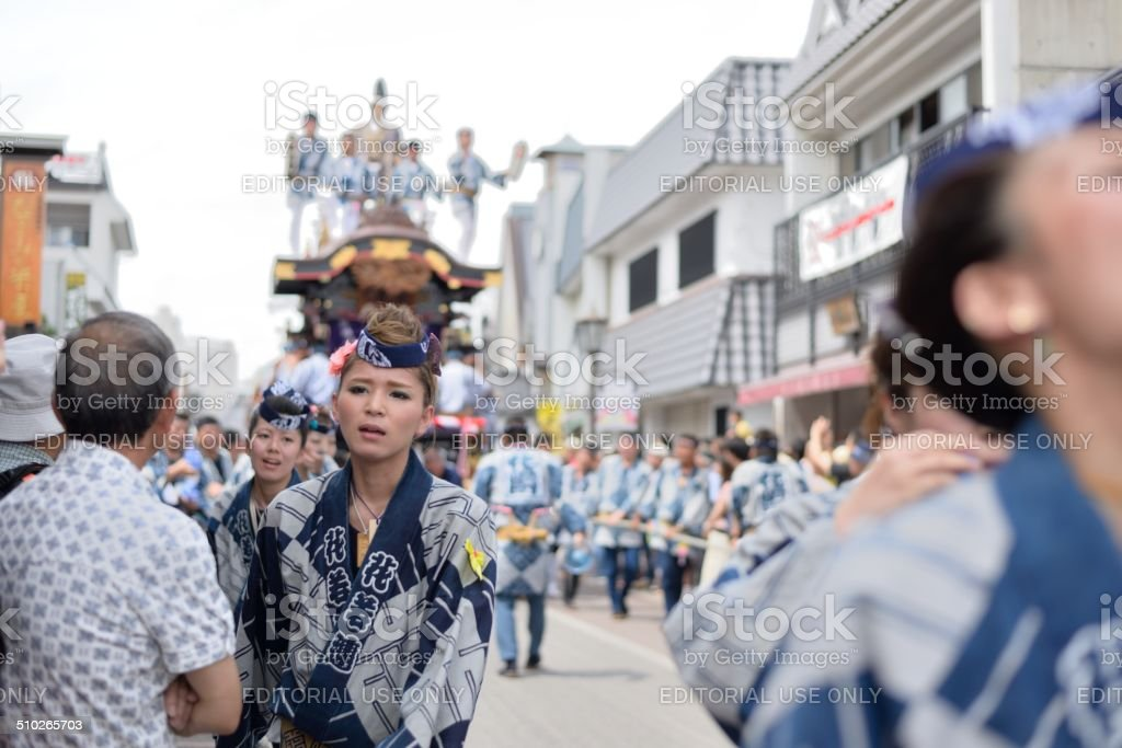 Narita Gion Matsuri stock photo