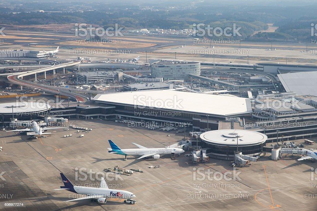 Narita International Airport in Japan stock photo