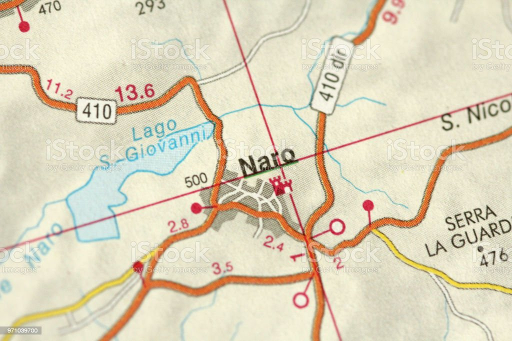 Naro Map The Islands Of Sicily Italy Stock Photo - Download Image Now
