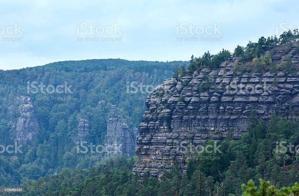 Narodni park Ceske Svycarsko summer view. stock photo