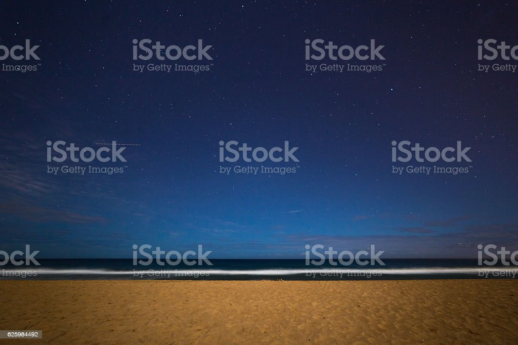 Narrabeen Beach at Night stock photo