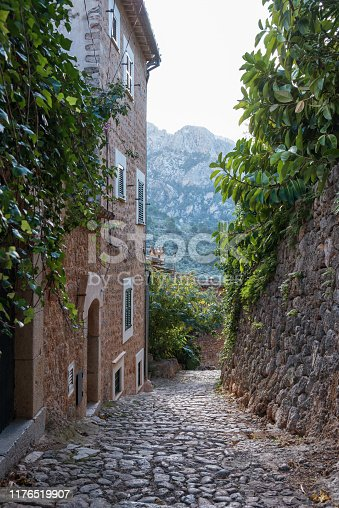 narrow alley in Soller - Mallorca, Spain