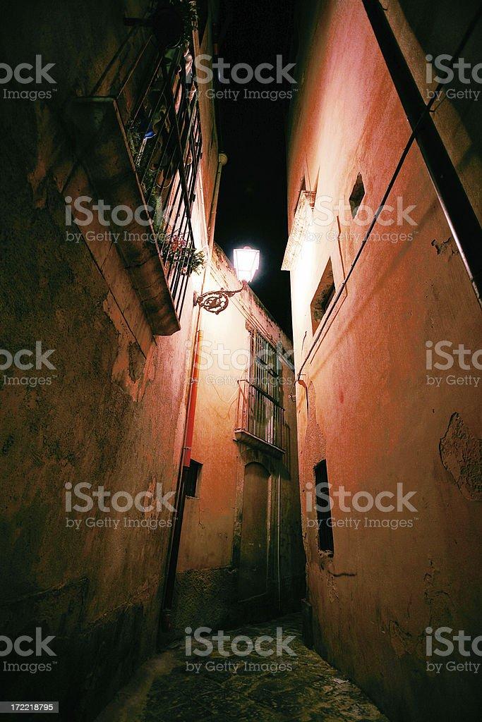 narrow backstreet royalty-free stock photo