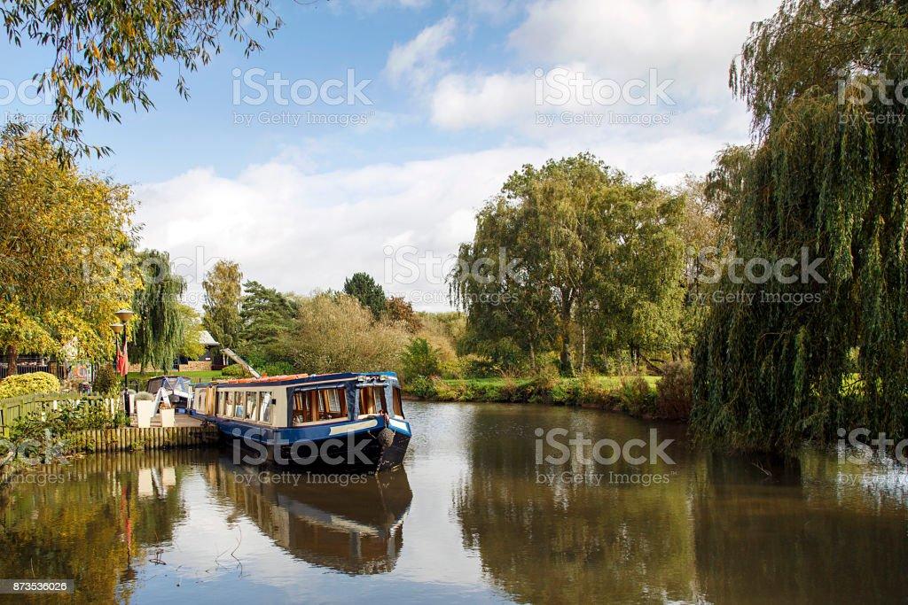 Narrow Boat on Avon Canal stock photo