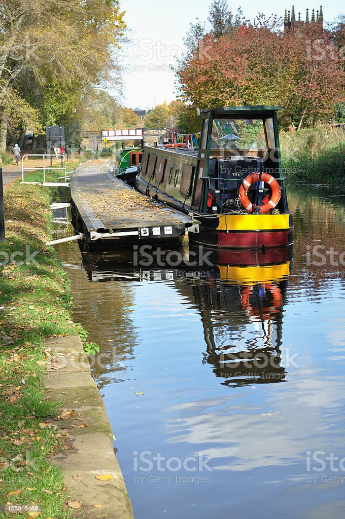 Narrow Boat on the Union Canal stock photo