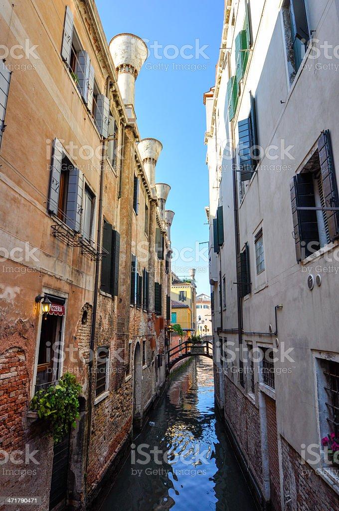 Narrow canal of Venice royalty-free stock photo