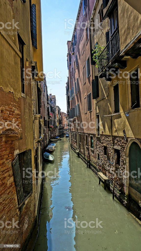 Narrow canal of Venice royalty-free stock photo
