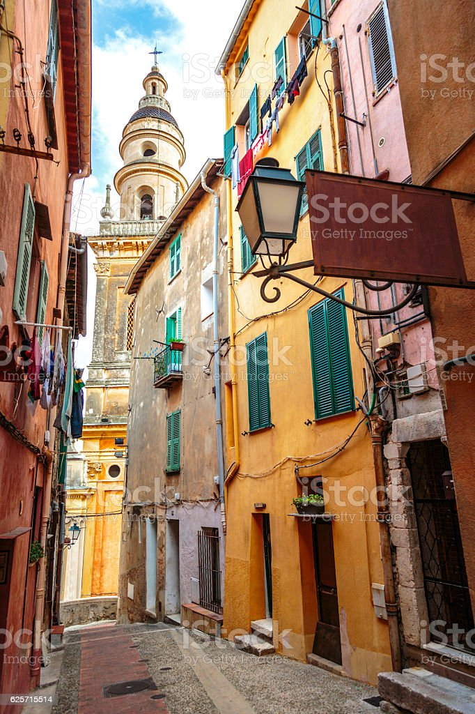 Narrow european lane stock photo