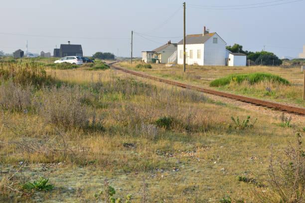 Schmalspurbahn bei Dungeness in Kent. – Foto