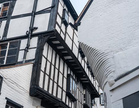 Smalle Grope Lane In Shrewsbury Shropshire Stockfoto en meer beelden van Aan het werk