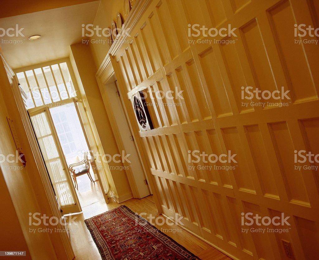 Narrow hallway royalty-free stock photo