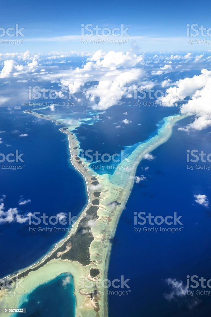 Narrow Island stock photo