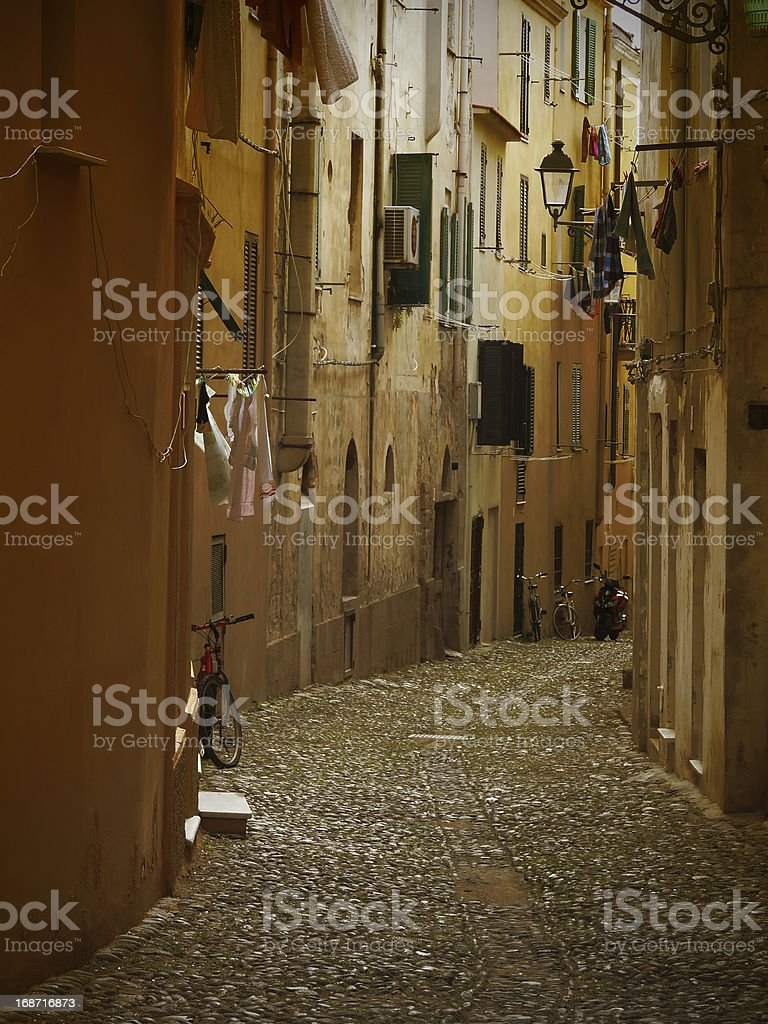 Narrow italian alley royalty-free stock photo