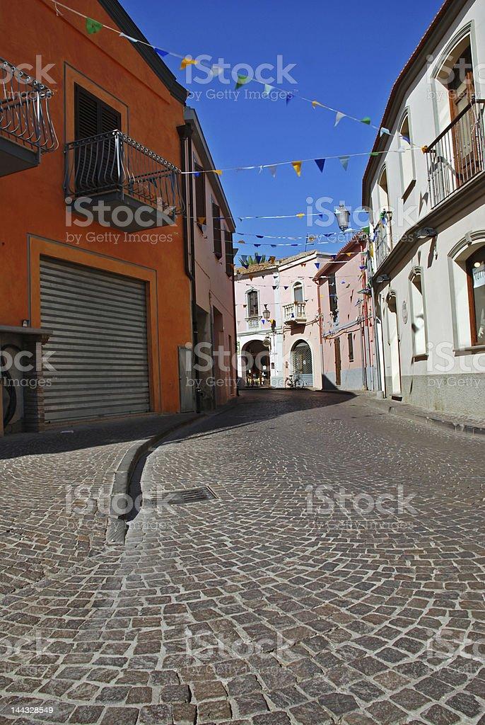 Narrow Italian street royalty-free stock photo