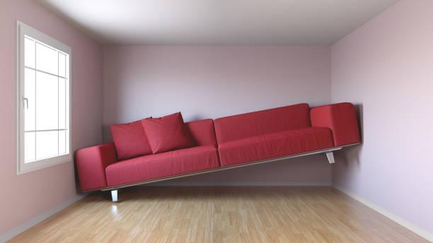 schmale wohnzimmer - kleinmöbel stock-fotos und bilder