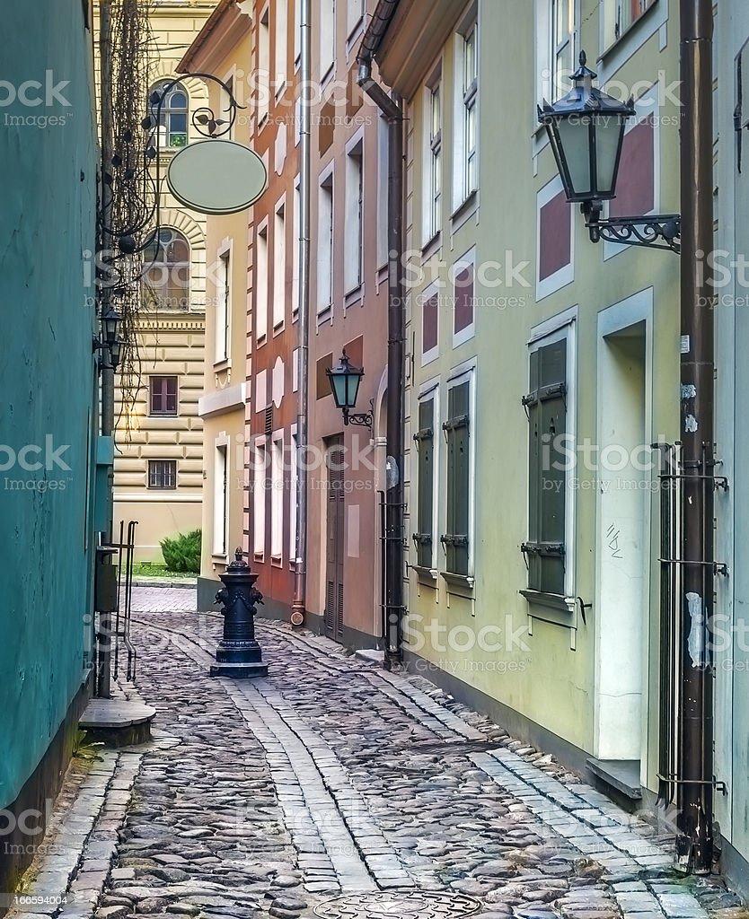 Narrow medieval street royalty-free stock photo
