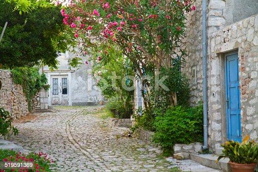 istock Narrow mediterranean street 519591369
