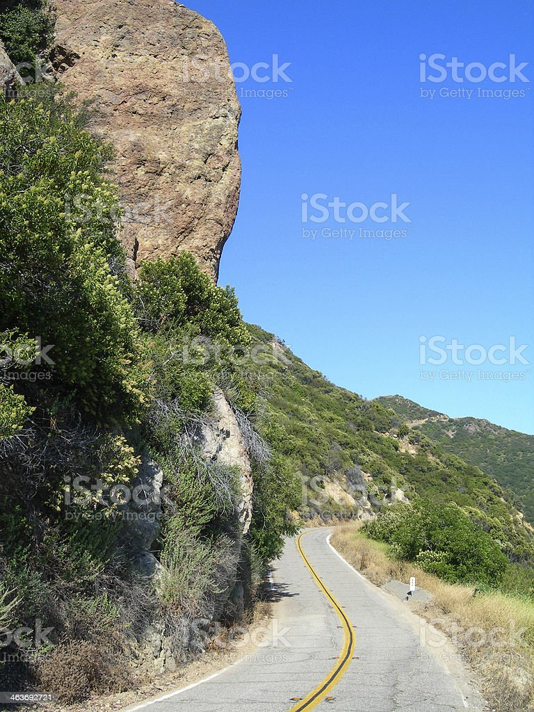 Narrow Mountain Road stock photo